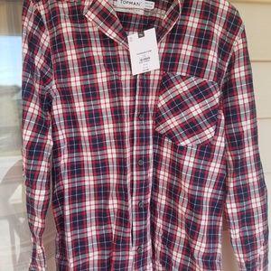 Topman Button Shirt XS Mens NWT